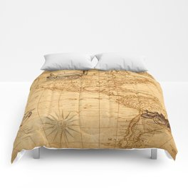 Vintage Map of America Comforters