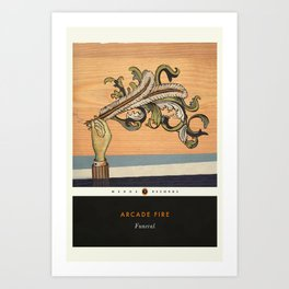 AR-CADE FI-RE - Funeral - Album Art Print / Music Poster in style of Penguin Classics Book Cover Art Print