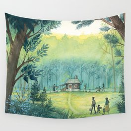 Home In The Woods Wall Tapestry
