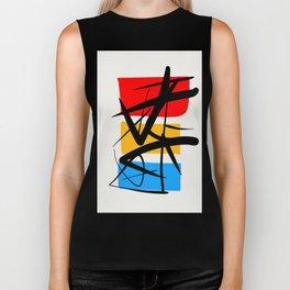 Synchronicity Abstract Art Minimalist in the zen spirit Biker Tank