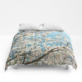 Snowy blossom Comforters