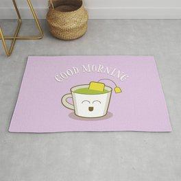 Good Morning Green Tea Lover Rug