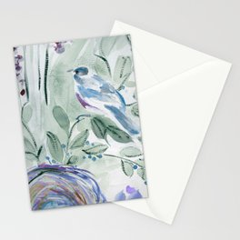 robin with nest Stationery Cards