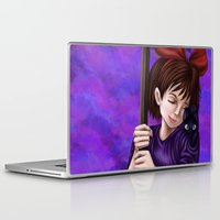 kiki Laptop & iPad Skins featuring Kiki and Jiji by Kimberly Castello