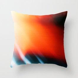 First Frame Film Burn Throw Pillow