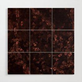 Stone coral - dark Wood Wall Art
