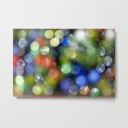 Colorful Bokeh Metal Print