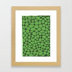 Yzor pattern 006-4 kitai green Framed Art Print