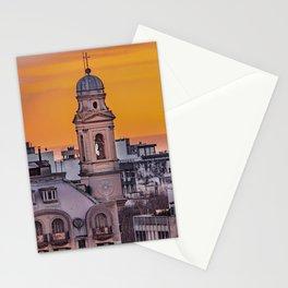 Ciudad Vieja Aerial View, Montevideo, Uruguay Stationery Cards