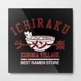 Ichiraku Ramen Konoha Village Metal Print