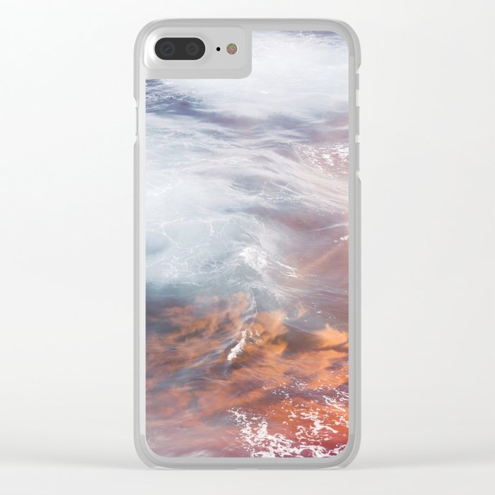 Wave of Fire Clear iPhone Case
