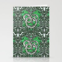 slytherin Stationery Cards featuring Slytherin by Cryptovolans
