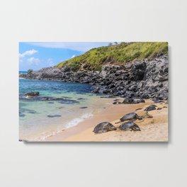 Maui Sea Turtles Metal Print