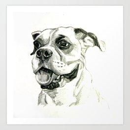 Smiling Boxer Boy Oscar Art Print