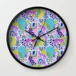 Cheetahs on Rainbows Wall Clock