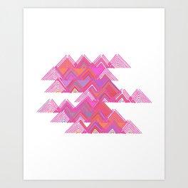 Colorful Line Work Art Print