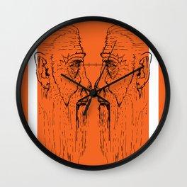Look at me (orange) Wall Clock