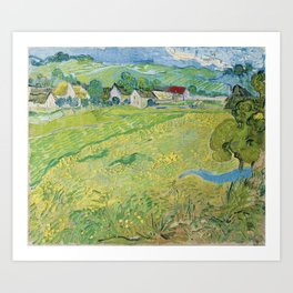 Vincent Van Gogh View Of Vessenots Near Auvers Art Print