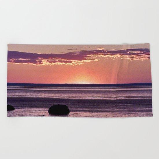 Dusk in the East Beach Towel