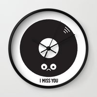 record Wall Clocks featuring For the Record by David Olenick