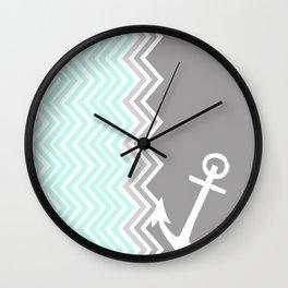 Nautical Chevron Wall Clock