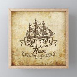 Dread Pirate Rum Framed Mini Art Print