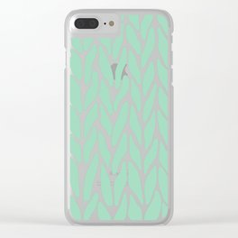 Hand Knitted Mint Clear iPhone Case