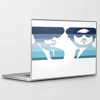 blues brothers Laptop & iPad Skins featuring Blues Brothers (Tribute) by Kerosene Bill
