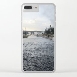 Yellowstone River Clear iPhone Case