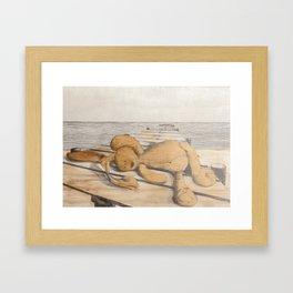 where did childhood go? Framed Art Print