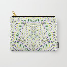 Yellow, Green, Purple Kaleidoscope Carry-All Pouch