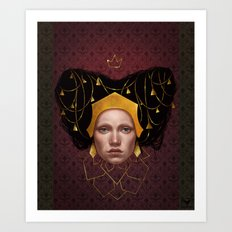 Gold Wire Art Print