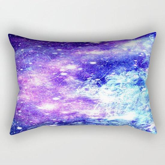 Chaotic Space : Galaxy Bright Purple & Blue Rectangular Pillow