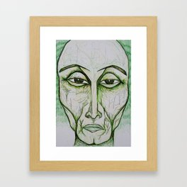 Visage 9  Framed Art Print
