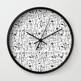 Stick and Poke Tattoo Wall Clock
