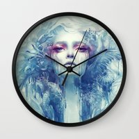 oil Wall Clocks featuring Oil by Anna Dittmann