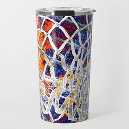 Colorful Basketball Art Travel Mug