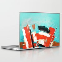 skyline Laptop & iPad Skins featuring Skyline by Rafael Galue