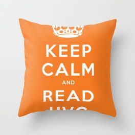 Keep calm and read HVG Throw Pillow