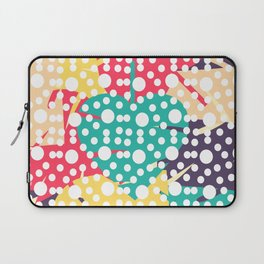 Colorful leaves with dots Laptop Sleeve
