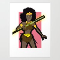 dungeons and dragons Art Prints featuring DUNGEONS & DRAGONS - DIANA by Zorio