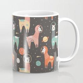 Astronaut Llamas in Space Coffee Mug