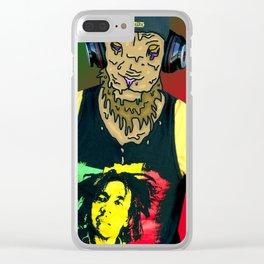 Grime Lion Clear iPhone Case