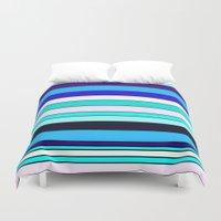 stripe Duvet Covers featuring Stripe by Mishu & Casco