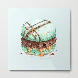 Mint Chocolate Macaron Cake Metal Print
