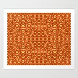 Retro African Wave Print Art Print