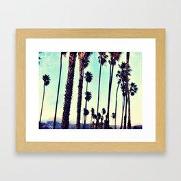 SB Palm Walk Framed Art Print
