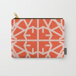 Diamond Bug - Pale Dogwood and Flame Carry-All Pouch