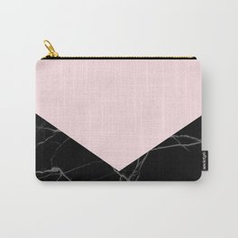 light pink and black marble Carry-All Pouch