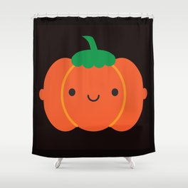 Happy Halloween Pumpkin Shower Curtain